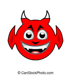 Little Imp Head - the head of a smiling little imp