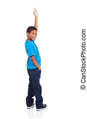 little indian boy waving goodbye