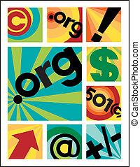 Little Internet Designs_DotOrg - Vector collection of nine...