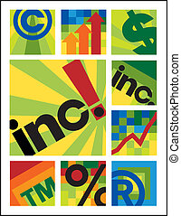 Little Internet Designs_Inc - Nine vector business designs....