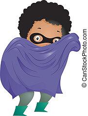 Little Kid Boy Superhero - Illustration of Little Kid Boy...