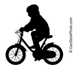 Little kid ride a bike