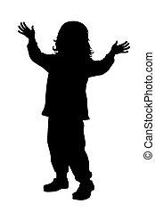 Little kid - Vector illustration of little kid with...