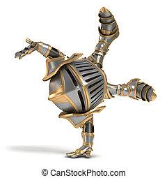 Little knight acrobat