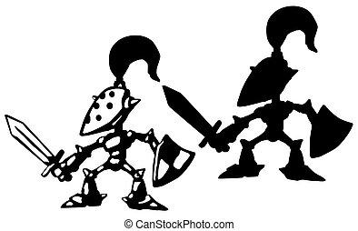 Little Knight Silhouette Cartoon - Little knight cartoon ...