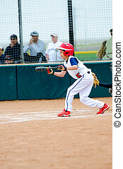 Little league baseball batter - Little league baseball boy...