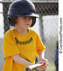 Little League Batter bunting