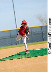 Little league pitcher