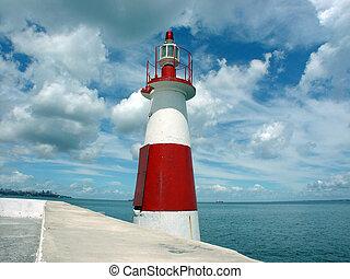 Little Lighthouse - A lighthouse in the Ribeira, Salvador de...