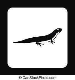 Little lizard icon, simple style