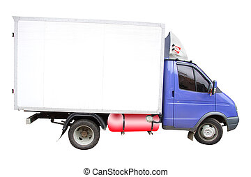 little lorry under the white background