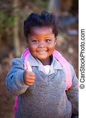 little miss confidence - young african girl with a positiv...