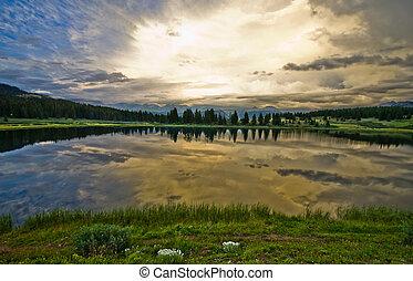 Little Molas Lake in the San Juan M
