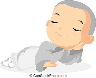 Monk Resting - Little Monk Resting