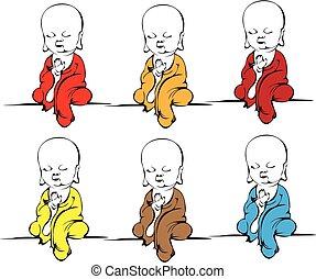 Little monks.