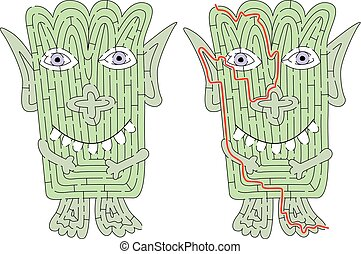 Little monster maze
