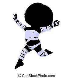 Little Mummy Girl Illustration Silhouette