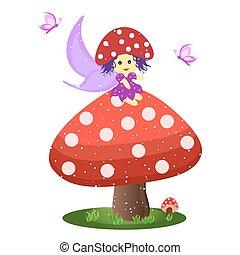 Little mushroom fairy