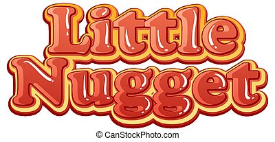 Little Nugget logo text design illustration