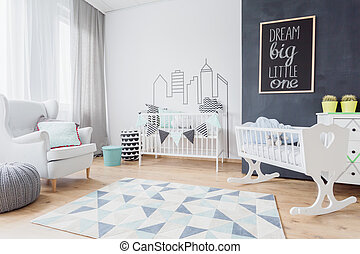 Little one's friendly living space - Scandinavian style of...