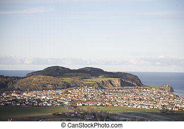 Little Orme. - The village of Penrhyn side. At the foot of ...
