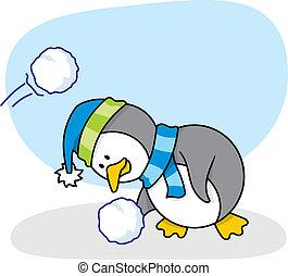 Little penguin 2 vector