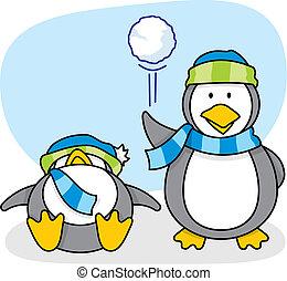 Little penguin 5 vector