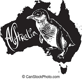 Little penguin as Australian symbol - Little penguin...