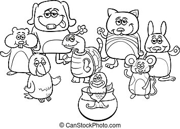 little pets coloring book