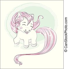 little pony puts out the tongue