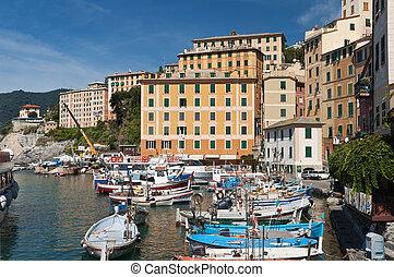 little port in Camogli