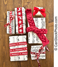 Little presents in boxes