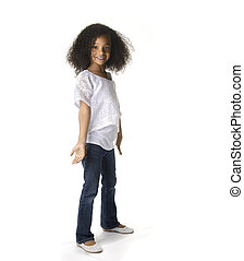 Little pretty African American Girl