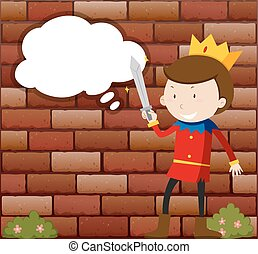 Little Prince holding sword