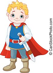 Little Prince  - Illustration of cute little prince