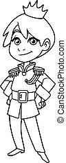 Little Prince Line Art