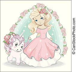 little princess and unicorn