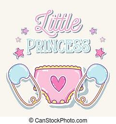 Little princess baby girl card