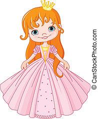 Little princess - Illustration of cute little princess