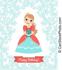 Little Princess happy birthday card
