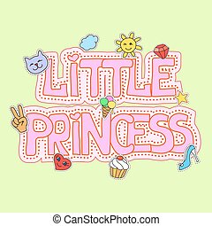 Little princess illustration fot t-shirt print,