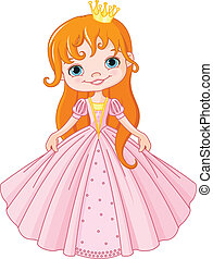 Little princess - Illustration of cute little princess
