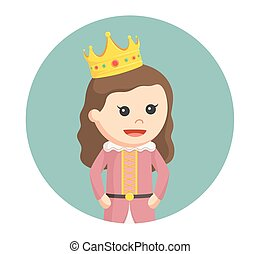 little princess in circle background
