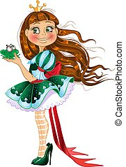 Little princess in green dress