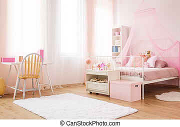Little princess room with bed