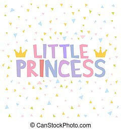 Little Princess T-shirt design poster vector illustration