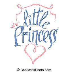 Little Princess vector lettering for girl t-shirt design