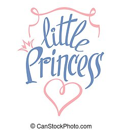 Little Princess vector lettering for girl t-shirt design