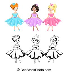 Little princesses in crowns