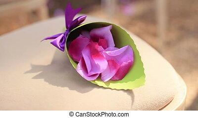 Little purple rose petals close up - Little rose petals...